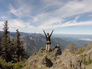 Me, celebrating on Klahane Ridge, in Olympic National Park. Photo by Allison.